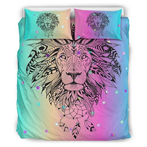 DOGCATPIG Coverlet Tiger Lion Animal Pareja estilo ropa de cama reversible elegante colcha para compañeros de cuarto, color blanco, 167,6 x 228,6 cm