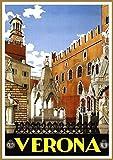 Plakat Poster Verona Vintage Reise Retro Print