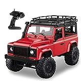 Goolsky MN-D90 Rock RC Crawler 1/12 4WD 2.4G Camion Télécommande à Grande Vitesse de la Voiture de Camion de Route RC a mené la lumière RTR (Rouge)