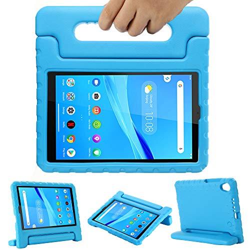 GOZOPO Niños Funda para Lenovo Tab M8 HD /Smart Tab M8 /Tab M8 FHD 2019, Soporte de mango a prueba de golpes, Funda amigable para los niños - Azul