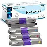 4 Confezioni Compatibile Cartuccia di toner Sostituzione per Oki C332dn MC363dn C332dnw MC363dnw Stampanti, Rese Elevate 3500 & 3000 Pagine (BK/C/M/Y)