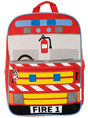 Harry Bear Zaino per Bambini Autopompa Antincendio Rosso