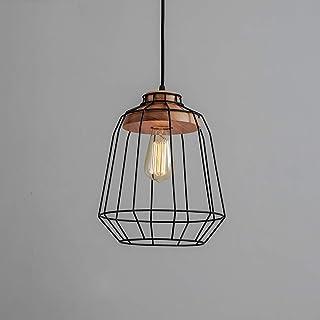 SXXYTCWL Pendentif Moderne Light E27 Industrial Vintage Pendentif Lumière Art Moderne Pyramide Diamant Birdcage Chandelier...