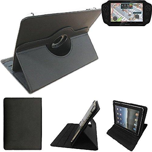 K-S-Trade Archos Gamepad 2 Schutz Hülle 360° Tablet Case Schutzhülle Flip Cover Für Archos Gamepad 2, Schwarz. Tablet Hülle Drehbar Standfunktion Ultra Slim Bookstyle Tasche Kunstleder