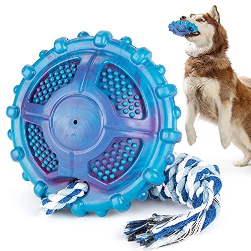 DSHZHM Juguetes para Perros, Juguetes para Masticar Perros, Juguetes Interactivos para Perros para Tira y Afloja, Juguetes de Inteligencia para Perros con Pelota y Cuerda