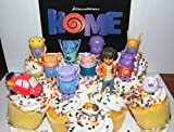 Dreamworks Home Figure Set of 13 Deluxe Cake Toppers / Large Cupcake Decorations / Party Favors featuring Oh, Tip, Pig, Space Car, Baby Boov and More!