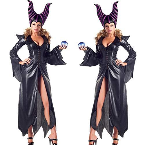 GBYAY Disfraz PU Cosplay Disfraces Adlut Disfraces de Halloween para Mujeres Fiesta Disfraces