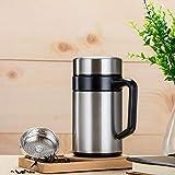 Taza de acero inoxidable 304, tazas de té con asas Oficina Comercial Té Mixto Taza de Viaje con Tapa Creativa Portátil Resistente al Calor Taza de Té Resistencia a la Gota Hombres