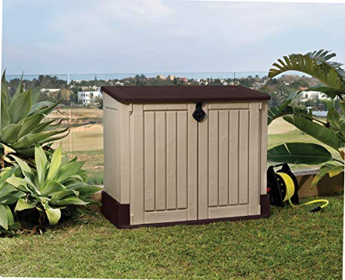 Outdoor Resin Horizontal Storage Shed