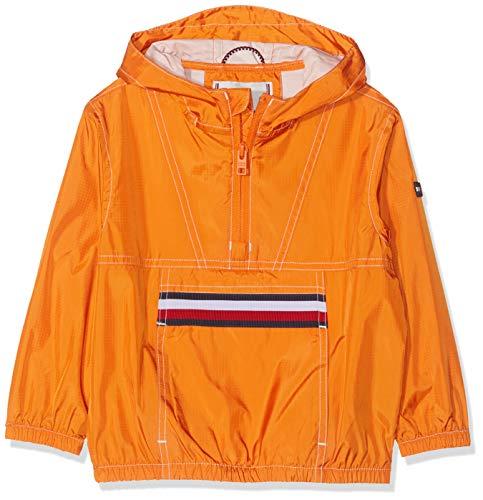 Tommy Hilfiger Unisex Baby U POP Over Jacke, Orange (Russet Orange 800), (Herstellergröße:80)