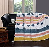 Homitecture Cotton Hand Woven Decorative Throw AC Comforter Blanket Sofa Cover Dohar Comforter for Living Room Home and Office Decor (125X150 cm, Multicolor)