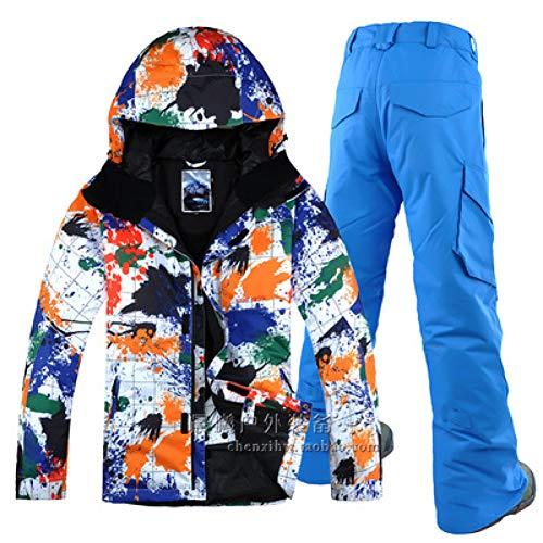 KUNHAN Vêtements de ski pour hommes Vêtements De Ski pour Hommes Professionnels Imperméables Coupe-Vent Coupe-Vent Double Planche Snowboard