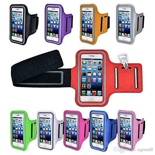 SYGEZJ Brazalete para teléfono móvil, Brazalete Deportivo Impermeable para teléfono Apple, Estuche para teléfono móvil para Correr, Gimnasio,Fitness y Deportes (4.9-5.7 Pulgadas) (Dark Blue)