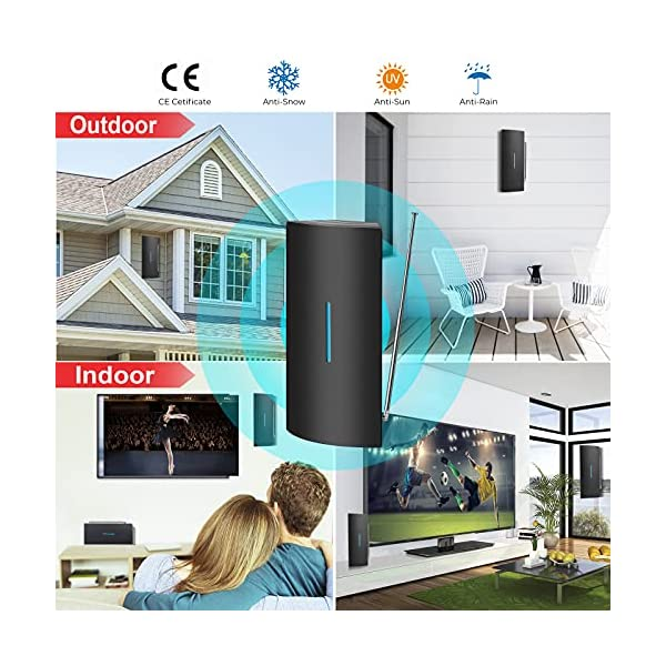 TV Antenna, 2021 Newest Indoor Outdoor Digital HDTV Antenna, HD Antenna 320 Miles Long Range Amplified Signal Booster…