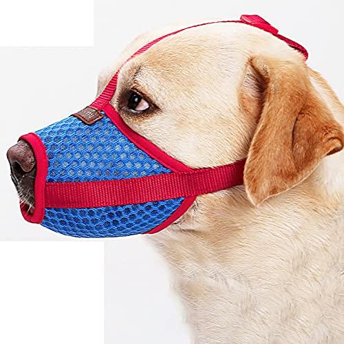 TBoxBo Bozal de malla transpirable para perro – anti mordeduras ladridos que evita comer accidentalmente – Cubierta ajustable para perros pequeños medianos grandes