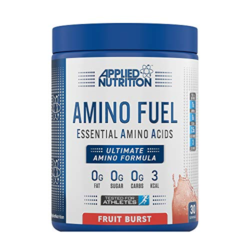 Applied Nutrition Amino Fuel - Essential Amino Acid (EAA) Powder Supplement Maximize Muscle Growth, 11g of Aminos Per Serving with BCAA's 390g - 30 Servings (Fruit Burst)