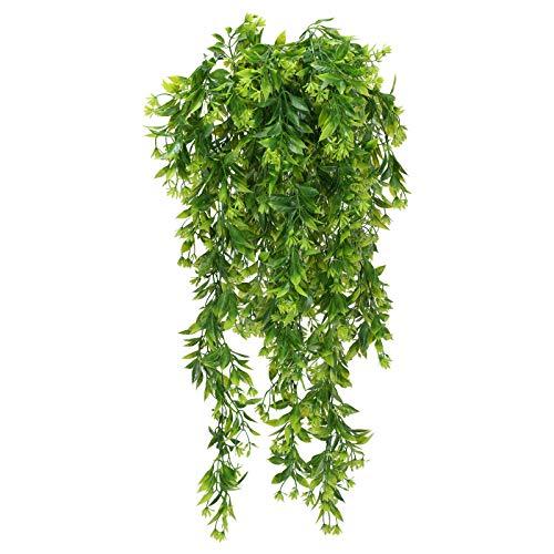 NAHUAA 3pcs Hängepflanzen Deko Kunstpflanze Efeu Künstlich Grünpflanzen Unechte Kletterpflanze für Valentinstag Balkon Frühling Stuhl Garten Hochzeit