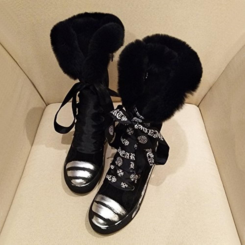 AGECC Damen Stiefel Bequeme Schöne Durable Middle Tube Martin Stiefel Frauen Steigern Schnee Stiefel Freizeit Wohnung Bottomed Stiefel Gezeiten  | Räumungsverkauf
