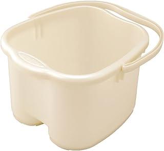 Inomata Pearl Foot Detox Massage Spa Bucket, White