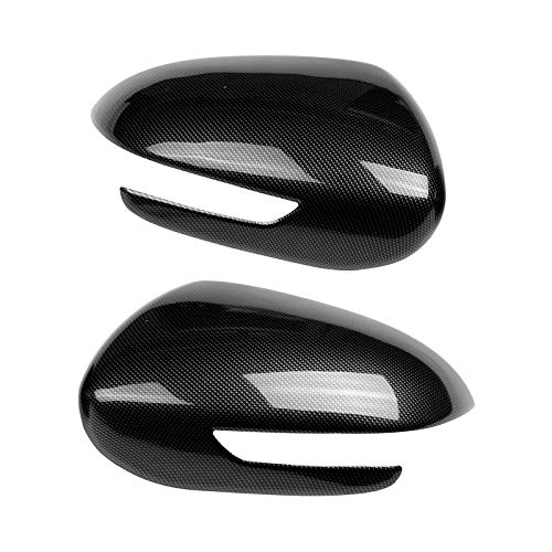 Lorenory Tapa 1 par de Coches Auto de Fibra de Carbono Espej