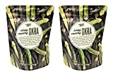 Crispy Crunchy Okra Chip Simply Ingredients! Made with Okra, Rice Bran Oil, and Salt Great for dipping in place of crackers or salad topping Pack of 2 (1.4oz each pack)
