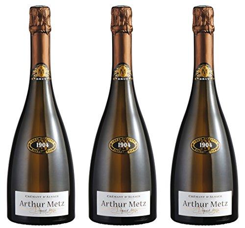 1904 Arthur Metz, Crémant D'ALsace - 3 bottiglie da 750 ml