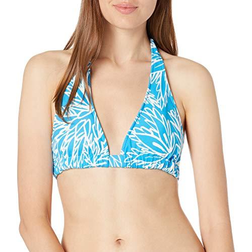 MILLY parte inferior de bikini de playa con estampado de loto para mujer -  Azul -  Chiquita