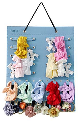COUXILY Baby Stirnbandhalter Baby Mädchen Stirnband Haarband Hängender Veranstalter Baby Stirnbänder Aufbewahrungshalter Ausstellungsstand (Kein Zubehör enthalten) (Himmel blau)