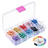 KUUQA 1000 Pieces 1/8 inch Map Push Pins Map Tacks with Plastic Round Heads and Steel Needle