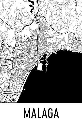 Malaga Print, Malaga Art, Malaga Map, Malaga Spanje, Malaga Poster, Malaga Wall Art, Malaga Gift, Malaga Decor, Malaga Cityscape, Malaga Art Print, Malaga Map Art Art