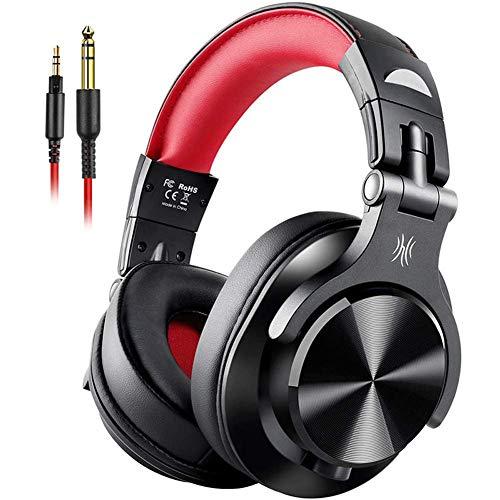 Qiutianchen 80H duración de la batería Auriculares Bluetooth, Auriculares de Audio Hi-Fi con micrófono for Juegos, PS4, Xbox One, PC, teléfono Inteligente, C (Color : A)