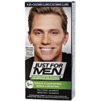 Just For Men, Tinte Colorante en champu para el cabello del hombre. Elimina las canas y rejuvenece el cabello en 5 minutos. Castaño Claro, 30 ml