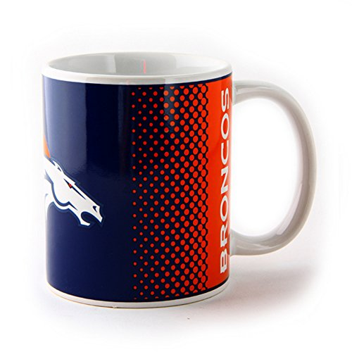 NFL Denver Broncos officiel de football Écusson Fade en céramique Mug, Céramique, bleu/rouge, Taille unique