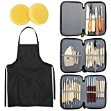 Blisstime Set of 42 Clay Sculpting Tool Wooden Handle Pottery Carving Tool Kit...