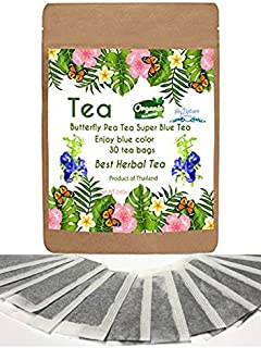New Butterfly pea Tea 30 mini bags Best Tea Blue Color one Cup for Enjoy and Relax Time.