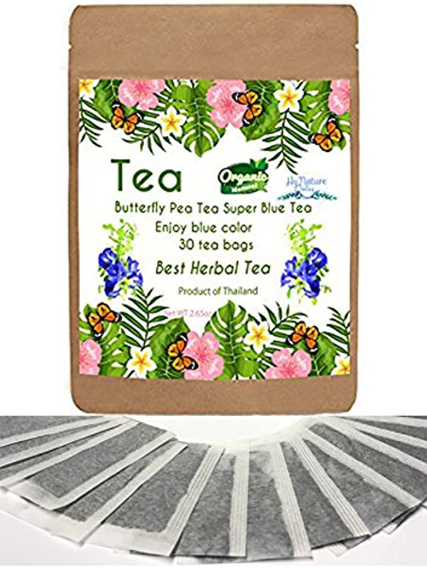 New Butterfly Pea Tea 30 Mini Bags Best Tea Blue Color One Cup For Enjoy And Relax Time