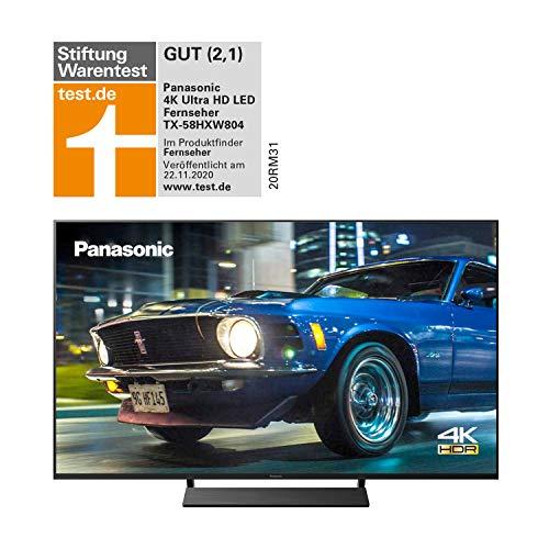 Panasonic TX-58HXW804 UHD 4K Fernseher (LED TV 58 Zoll / 146 cm, HDR, Quattro Tuner, Smart TV, Alexa, USB Recording) [Energieklasse A+]