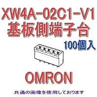 オムロン(OMRON) XW4A-02C1-V1 (100個入) コネクタ端子台基板側端子台 フラグ L型端子 2極 (端子ピッチ3.81mm) NN