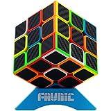 FAVNIC キューブ 3x3x3 競技専用 立体パズル 回転スムーズ 炭素繊維 世界基準配色 ver.2.1 グレードアップ版