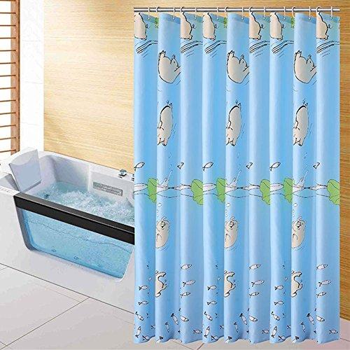 Rideaux de douche polyester à séchage rapide antirides épaissir Moule de salle de bain de salle de bain Barrière de rideau Rideaux Plusieurs, d'envoyer des crochets, Polyester, multicolore, 200*200 cm