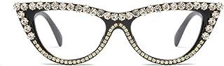 Vintage Retro Women Cateye Sunglasses Crystal Trim...