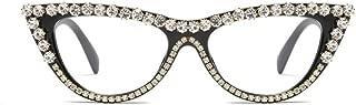 Vintage Retro Women Cateye Sunglasses Crystal Trim Jeweled Frame Costume Glasses