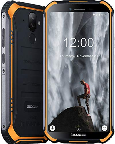 DOOGEE S40 Movil Libres Resistente 4G Telefonos, IP68 Antigolpes Impermeable Robusto Smartphone 4650mAh Batería, Android 9.0 Movil Todoterreno 3GB+32GB, 8MP+5MP Doble Cámara 5.5'' NFC Movil, Naranja