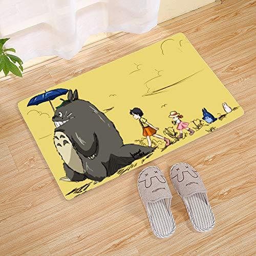 Patrón Felpudo Colección Totoro Puerta de la Estera 10.11 (Color : A, Size : 40x60cm)
