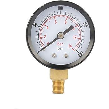 """2/"""" 1//4 NPT Vakuum Manometer Vakuumeter Druckmesser Luftkompressor Wasser Öl Gas"""