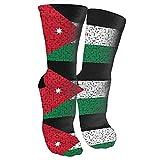 Jesse Tobias Jordan Flag Puzzle Crazy Socks 3D Crew Calcetines