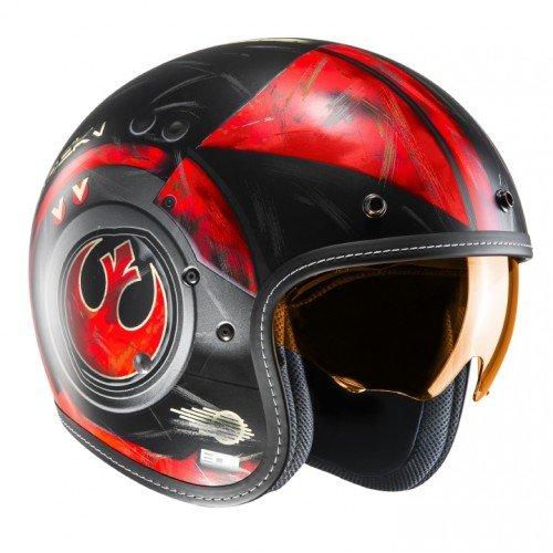 HJC Motorradhelm FG-70s Poe Dameron MC1Sf, Schwarz/Weiß/Rot, Größe M