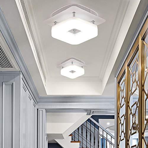Artpad 12W metalen plafondlamp Witte lamp Opbouw Witte LED Vierkante gangpad Plafondlamp AC220V