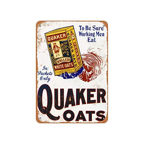 Lplpol Aluminiumschild Quaker Oats Vintage Metallschild öffentliche Schild Dekoration Schild 30,5 x 45,7 cm
