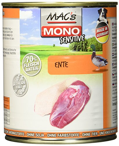 Mac's Mono Sensitive Ente, 6er Pack (6 x 800 g)